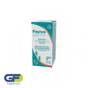 Amantadina/ Clorfenamina/ Paracetamol 500/20/3g C/Fco. 60ml Sol. Infantil. (Fayrus)