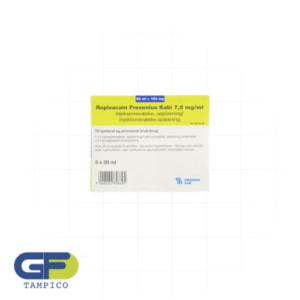 Ropivacaina 7.5mg/ml C/5 Amp. (Tration) (Fresenius)