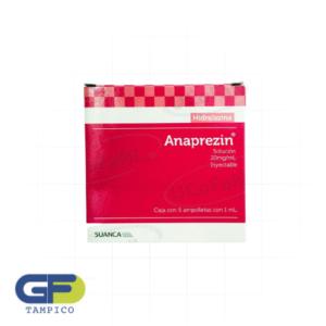 Hidralazina 20mg/ml. iny. c/5amp(Anaprezin)