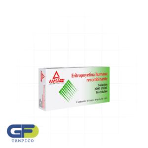 Eritropoyetina Humana Recombinante 2000UI/ml C/6 Fco Amp (Amsa)