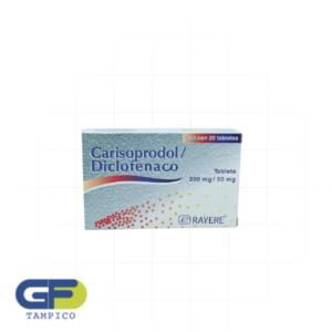 Carisoprodol/Diclofenaco 200/50 Mg C/20 Grag (Rayere)